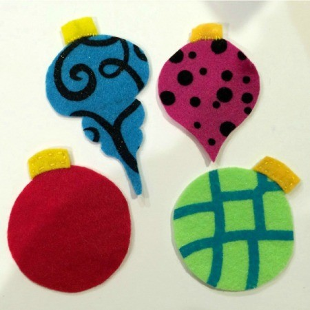 Felt Antique Christmas Baubles