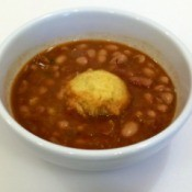 Pinto Bean Stew with Cornbread Dumplings