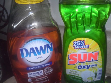 Dish Soap from the Dollar store.