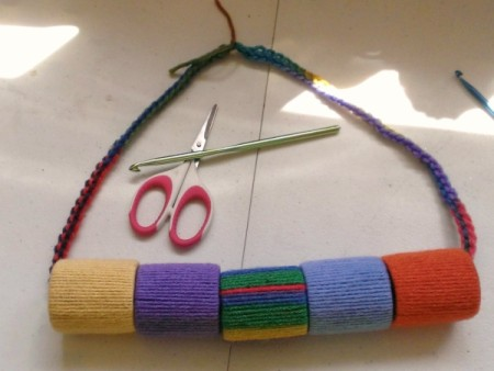 Fun Yarn and Spool Necklace