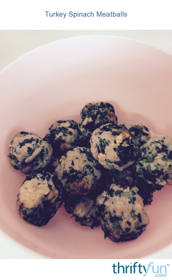 Turkey Spinach Meatballs | ThriftyFun