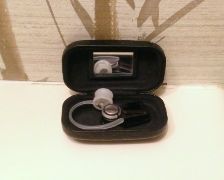 Store bluetooth in a contact lens case.