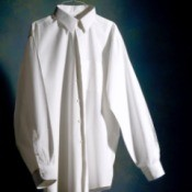 A crisply ironed white shirt.
