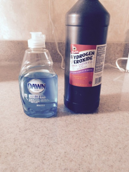 Dawn and peroxide bottles