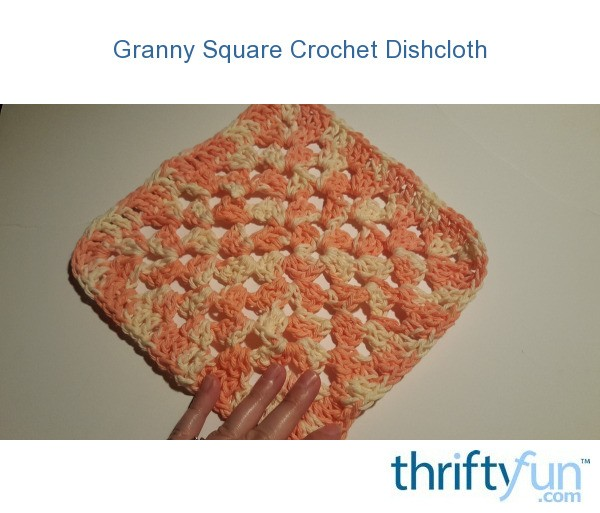 Crochet Granny Square Dishcloth Pattern : Granny Square Crochet Dishcloth ThriftyFun