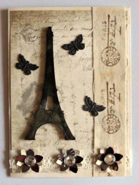 Vintage French Birthday Card