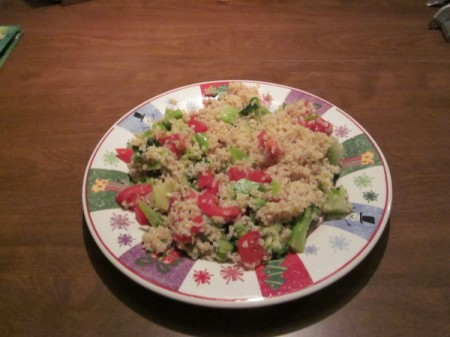Tabbouli on plate