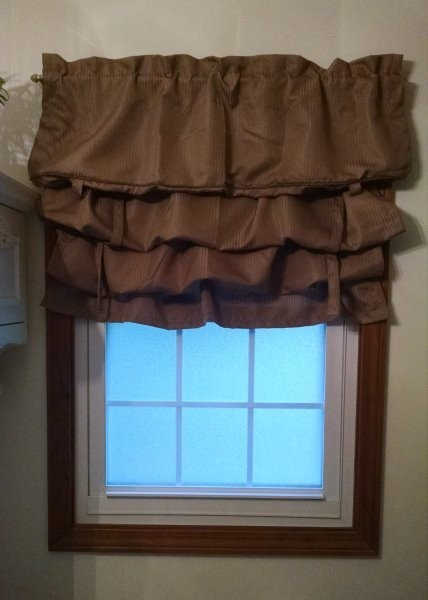 bathroom window with valance
