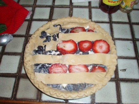Fourth of July Pie - decorated pie