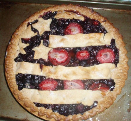 Fourth of July Pie - baked pie