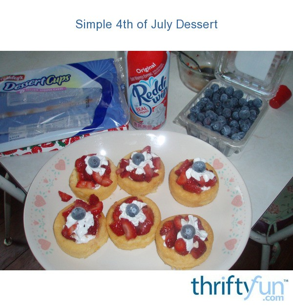 Simple 4th of july dessert thriftyfun for Easy dessert ideas for 4th of july