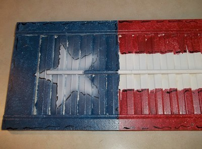 Flag Painted Shutters
