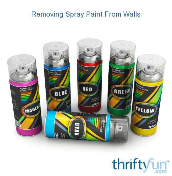 removing spray paint from walls thriftyfun. Black Bedroom Furniture Sets. Home Design Ideas