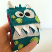 blue felt monster sewing kit