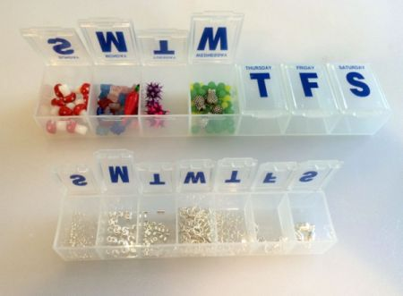 Pill Organizer for Beads and Findings