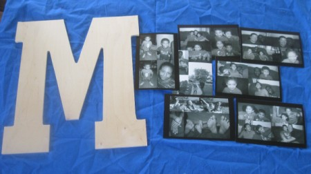 Decoupage Photos Onto Wood Letter