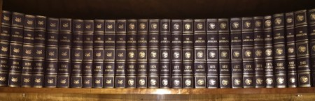 volumes on shelf