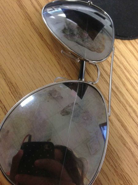 Coating Coming Off of Sunglasses