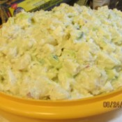 Old Fashioned Potato Salad - salad in bowl