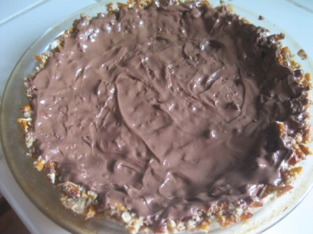 chocolate on crust