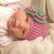 Crocheted Newborn Hat