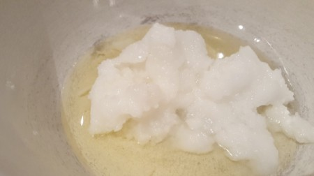 Coconut Oil Conditioner - mixing conditioner