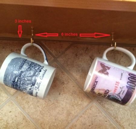 under cabinet mug display thriftyfun. Black Bedroom Furniture Sets. Home Design Ideas