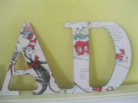 Decorative Decoupaged Letters