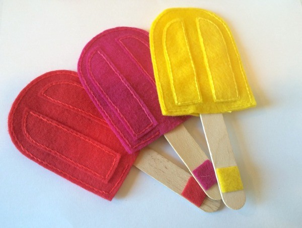 Felt Popsicle Color Matching Game