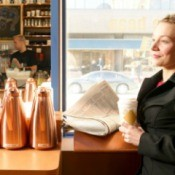 business woman in coffee shop