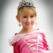 little girl dressed as a princess