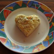 heart shaped scone