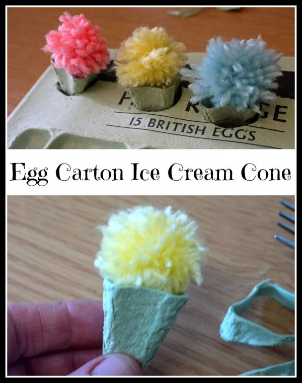 Making an Egg Carton Ice Cream Cone