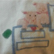 Sharpie stain on counted cross stitch fabric