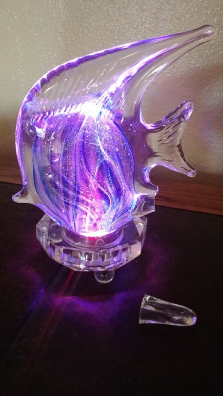 glass fish light