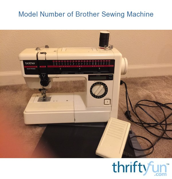 sewing machine model numbers