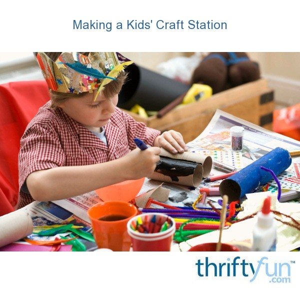 Making a kids 39 craft station thriftyfun for Arts and crafts stores near my location