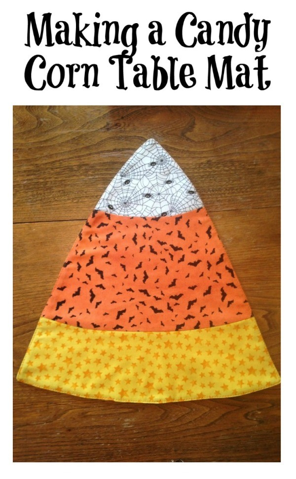 Making a Candy Corn Table Mat