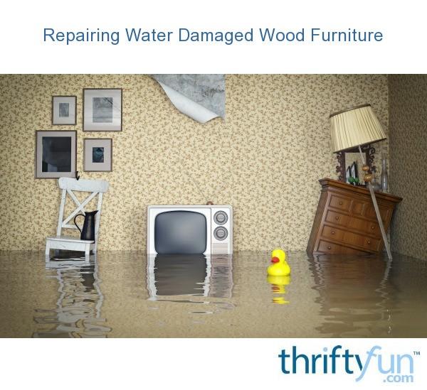 Damaged Furniture Sale: Repairing Water Damaged Wood Furniture