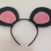 No-Sew Felt Mouse Ears