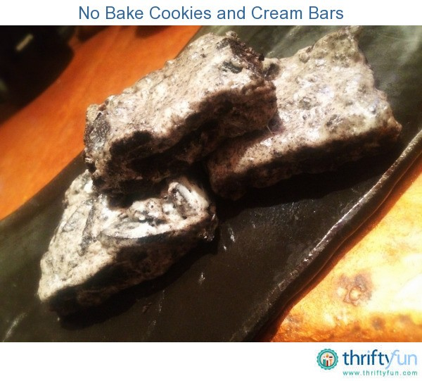 No Bake Cookies and Cream Bars | ThriftyFun
