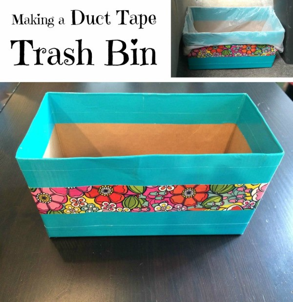 Duct Tape Trash Bin