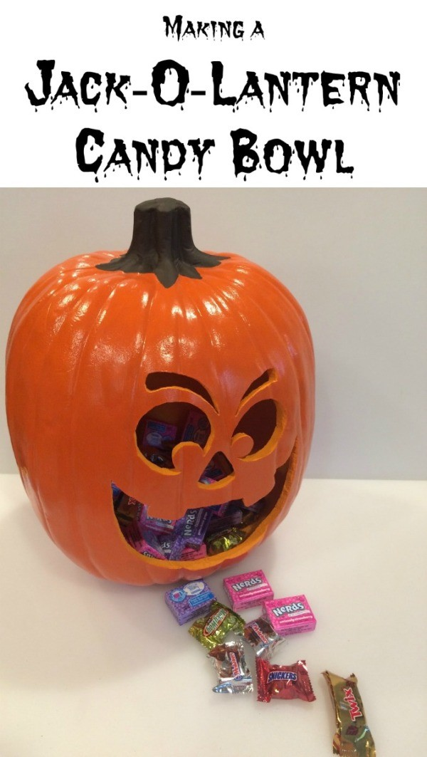 Making a Jack-O-Lantern Candy Bowl