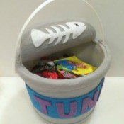 Making a Tuna Can Trick-Or-Treat Bucket