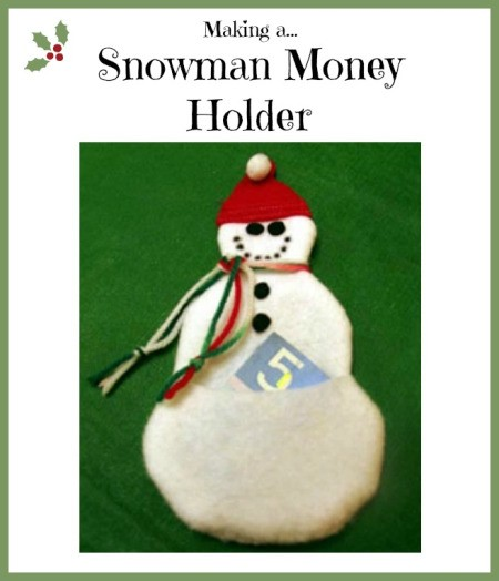 Making a Snowman Money Holder