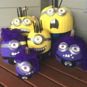 Making Minion Pumpkins