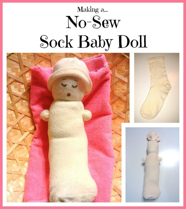 Making A No Sew Sock Baby Doll Thriftyfun