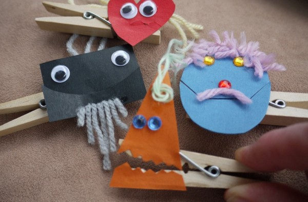 Making Peg Clothes Pin Puppets Thriftyfun