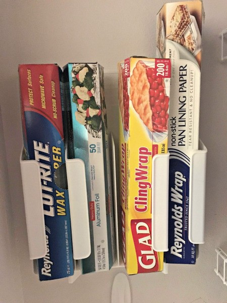 Storing Plastic Wrap, Foil and Wax Paper Boxes