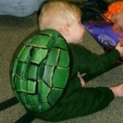 Making a Turtle Costume for a Baby